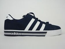 Mens Adidas Neo SR Daily Team Suede Shoes Navy White Lace Up Casual Trainers 20a9a68b8