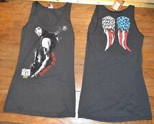 AMC The Walking Dead Daryl Dixon 2-Sided Estampada Verano Vestido Tanque Pareo