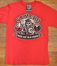 Sons Of Anarchy Samcro Men Of Mayhem Camiseta con Licencia Soa Mercancía Segador
