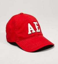 AMERICAN EAGLE OUTFITTERS Red/White AE Logo Adult Fitted Baseball Cap