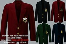 UNITS A - D  EMBROIDERED BLAZER JACKET BADGE 2 CHEST & 3 CUFF BUTTONS PER SLEEVE