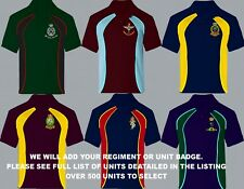 UNITS Q - R EMBROIDERED FULL REGIMENTAL COLOUR LONG SHORT SLEEVE POLO SHIRTS
