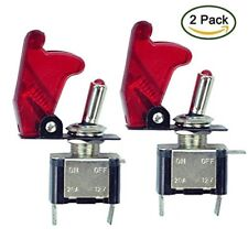 2x 12v/20a Car Auto Switch On/off Spst Toggle Switch Led Illuminated red By Tily