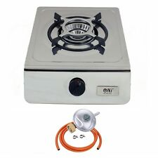 NJ-100 Compact Single Burner Stainless Steel Gas Stove Camping Cooker 4.0 kW