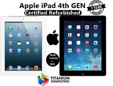 Apple Ipad 4th Génération Dual Core 16gb Wi-Fi 9.7in - Cellulaire 4g -