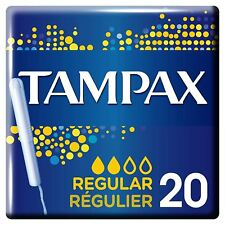 Tampax Regular Sized Tampons with Cardboard Applicator & Leak Protection 20 Pack