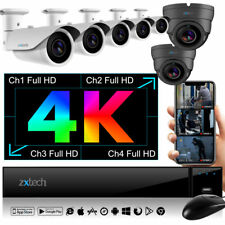 4K UHD Recorder + 7x IP Cam Premium 60M NightVision Water Proof HDR PoE CCTV Kit