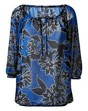 New Womens Floral Peasant Blouse