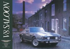 Aston Martin Vintage Showroom Advertising Picture Print Poster V8 Saloon Silver