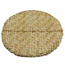 Set of round placemats Natural woven rush Dining table mats