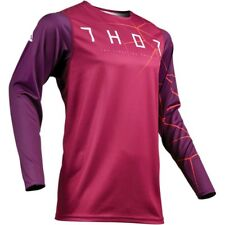 Thor Premier Pro Infection Jersey Mx Enduro Tricot Maillot Chemise Violet/Rouge