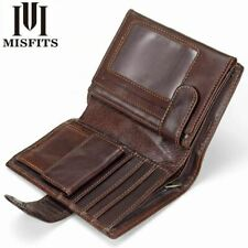 Vintage Men Wallet Genuine Leather Short Male Multifunctional Cowhide Purse