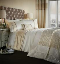 Catherine Lansfield Luxor Jacquard Gold Duvet Cover Set S/D/K With Accessories