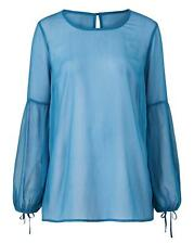 New Womens Peasant Sleeve Blouse