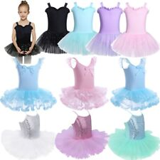 Girls Kids Tutu Ballet Leotard Dance Dress Ballerina Training Dancewear Costume