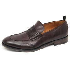E8918 mocassino uomo dark brown BARRACUDA scarpe vintage effect loafer shoe man
