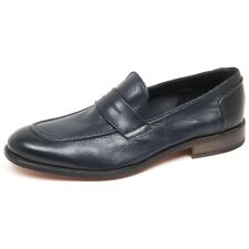 E8796 mocassino uomo blu CARACCIOLO 1971 loafer shoe man