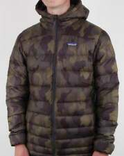 Patagonia Hi-Loft Down Hooded Jacket in Camo Print - puffa puffer quilted coat