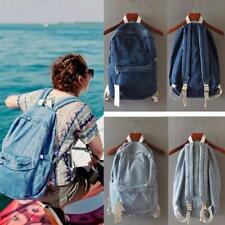 Hot Vintage Unisex Denim Backpack Jean Rucksack School Bookbag Casual Travel Bag