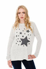 A Postcard From Brighton Women's Starry Slub Knit Top - Grey (New Arrival)