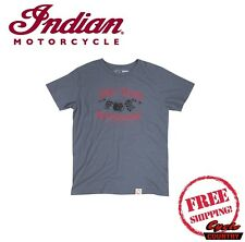 GENUINE INDIAN MOTORCYCLE BRAND COTTON T-SHIRT TEE 1901 CONEY ISLAND GRAY NEW
