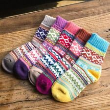 Casual Socks For Winter Retro Ethnic Style Thermal Woolen Thickening Warm Women