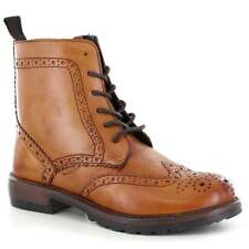 Adesso Vicky 03179 Womens Leather 6 Eyelet Ankle Boots - Tan