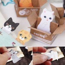 Cat Memo Block Kitten Sticky Tab Notes | Pad Page Markers Cute Kawaii Stationary