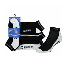Magpies ladies cushion foot ankle socks 2 x 3 pack: 6 Pairs