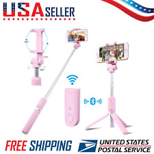 Selfie Stick With Bluetooth Remote Shutter+Tripod Mount for CellPhone