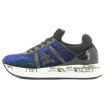 Premiata LIZ3354 Premiata Liz 3354 sneaker in blue neoprene and velvet for woman
