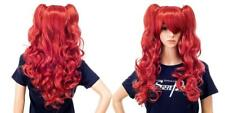 SWACC Long Curly Double Claw Clip on Ponytail Cosplay Wig for Party Costume