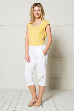 50% OFF SALE Nomads - Crop Cotton Trousers, Stretch Back Waist Size 16 - CA10