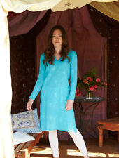 50% OFF SALE - Nomads - Long Embroidered Kaftan, Cheesecloth Cotton - ER49