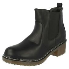 Spot On Ladies Chunky Heel Ankle Boots