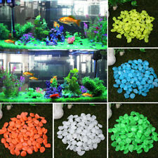 2ACA 4243 100Pcs/Set Glow In The Dark Pebbles Stone Home Outdoor Garden Aquarium