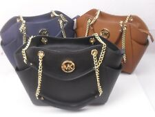 31f2787a1ad3 Michael Kors Saffiano Leather Jet Set Travel Chain Tote MK Bag Various  Colors