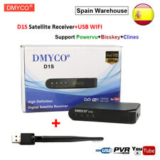 DVB-S2 Digital Satellite Receiver D1S Full HD 1080P Support Powervu Bisskey+WIFI