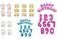 Giant Air Fill Silver Gold Pink Blue Rose Gold Happy Birthday Foil Balloon decor