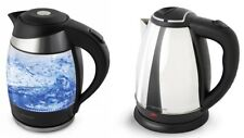Water Heater Water Kettle Glass Stainless Steel up to 2200W 1,8L Led Lighting