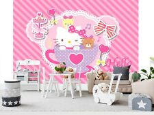 Wall Mural Photo Wallpaper EASY-INSTALL Fleece Hello Kitty Girls Bedroom Decor