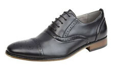 Boys Leather Lined Smart Lace Up Oxford Brogues Shoes BLACK Sizes 11-5.5  B516A