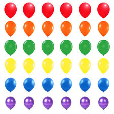 """Pride Rainbow Colour Mix of Latex 10"""" Party Balloons Helium or Air Fill Event"""