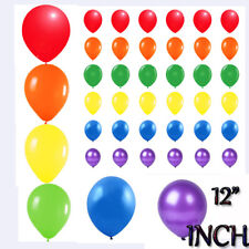 """12"""" Pride Rainbow 6 Colour Mix METALLIC Party Balloons Helium & Air Fill Event"""