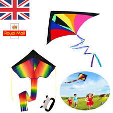 Colorful Huge Rainbow Flying Kite For Kids Fun Outdoor Games Activities Holiday