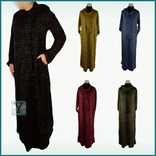 Winter Warm Abaya cosy + scarf Jilbab Islamic Hijab Kaftan Caftan Maxi Dress