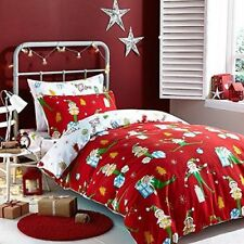 Catherine Lansfield Brushed Cotton Elfie Red - Bed in a Bag