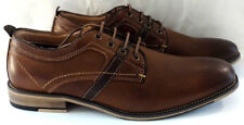 Steve Madden Mens Dress Shoes Leather Brown Tan Oxford Spectator Lace Up Casual