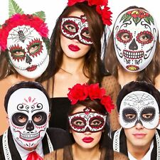 Halloween Mexican Zombie Sugar Skull Day of the Dead Fancy Dress Mask Accessory