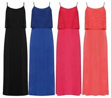 Womens Floral Lace Strappy Fancy Party Dress Ladies Casual Maxi Dress Lot